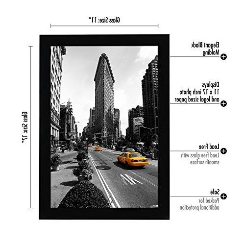2-Pack - Picture Frame Made Legal Sized Paper Wall Mounting Included
