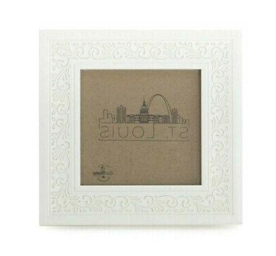 4x4 ornate picture frame white tabletop wall