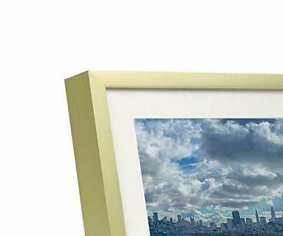 Frametory,5x7 Aluminum Metal Table Photo with Ivory