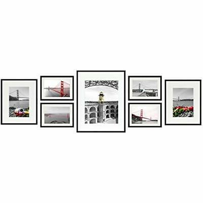 7 piece wall and tabletop frames black