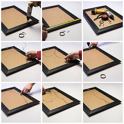 Craig Frames Aged Black Gold Wood Picture Frame