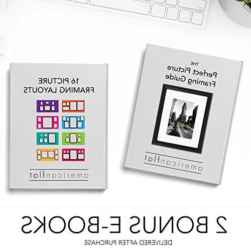 2-Pack - Picture Frame Legal Paper Wall Mounting
