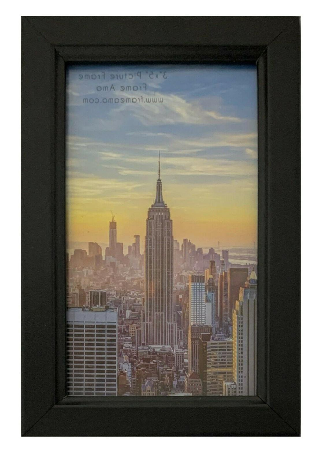 Frame Black Wood Picture Frame, Front, Wall or 1,