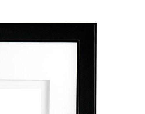 Gallery Solutions 11x14 Wood Wall Frame Double White 8x10 Image
