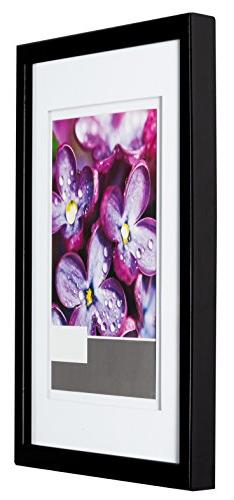 Gallery Solutions 11x14 Black Wood Wall Frame Double White