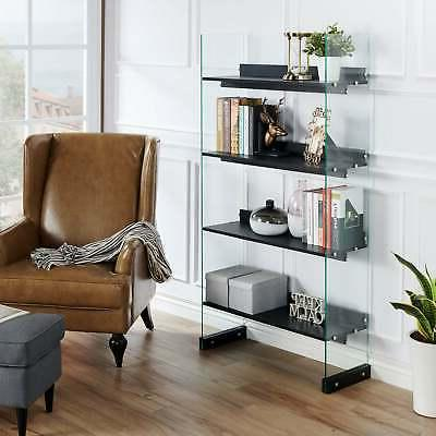 bown modern black glass frame 4 tier