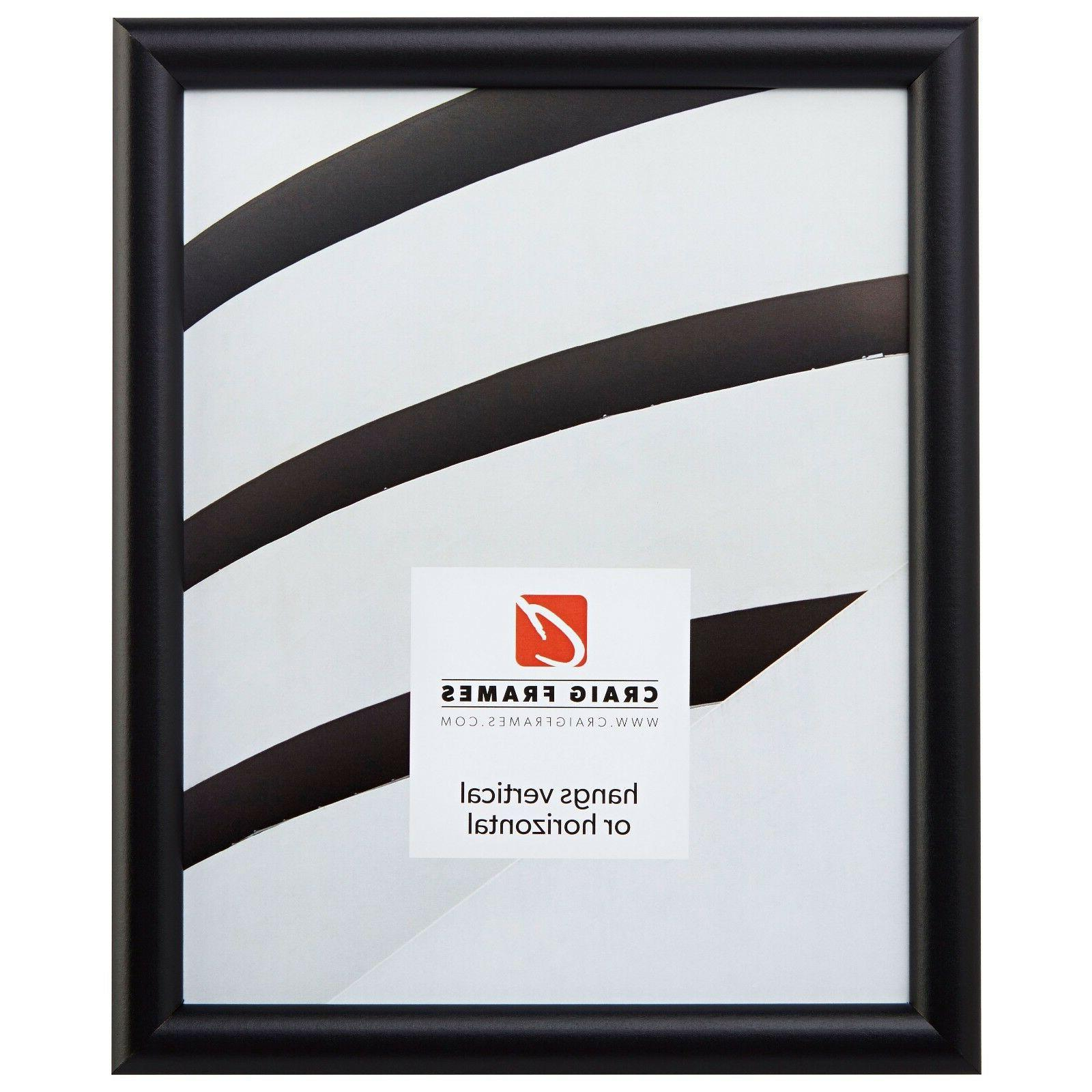 bullnose contemporary black picture frame