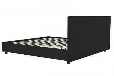 Contemporary Leather Size Bed Frame Tufted