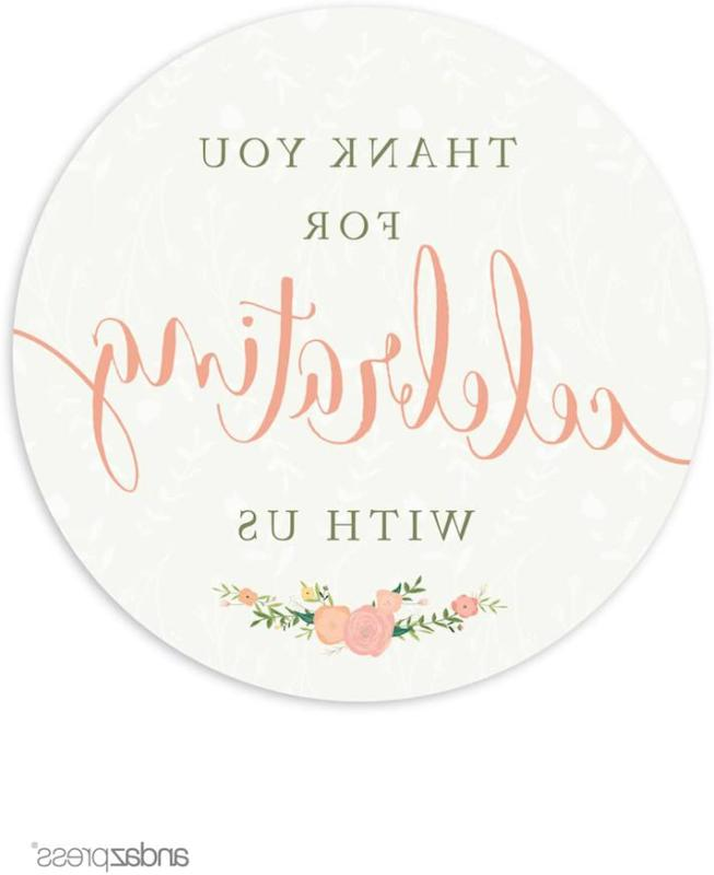 Andaz Press Floral Roses Girl Baby Shower Collection, Round