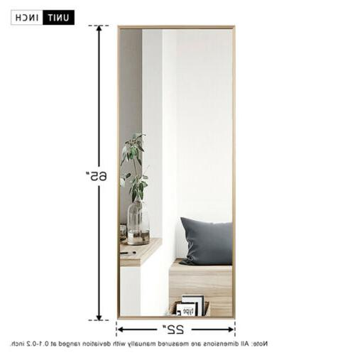 Full Length Leaning Wall Mounted Frame Large