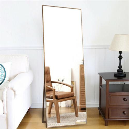 full length floor mirror leaning wall mounted