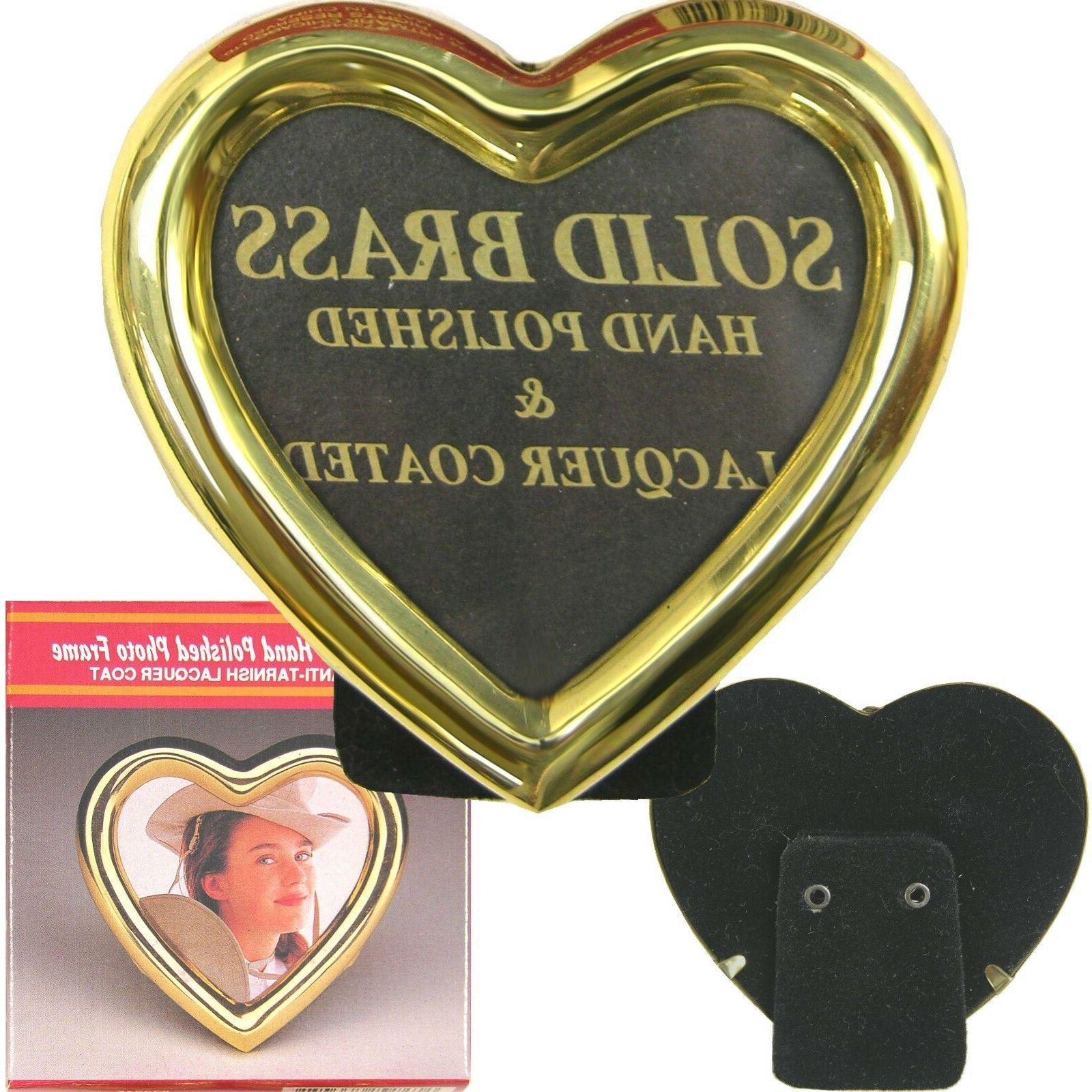 heart shape brass picture frame 3 x