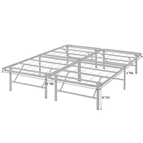 Modway Horizon Frame In Replaces - Folding Portable Metal Bed - Profile - Heavy