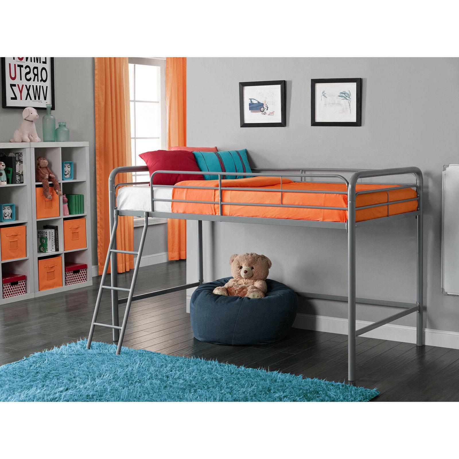 loft bunk bed twin metal