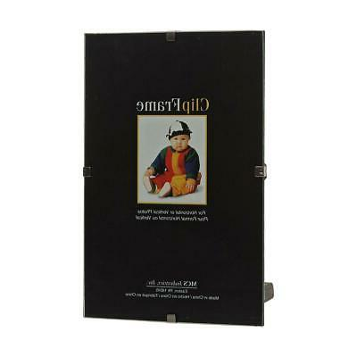 """MCS Glass Clip Picture Frame for a 8.5"""" x 11"""" Photograph"""
