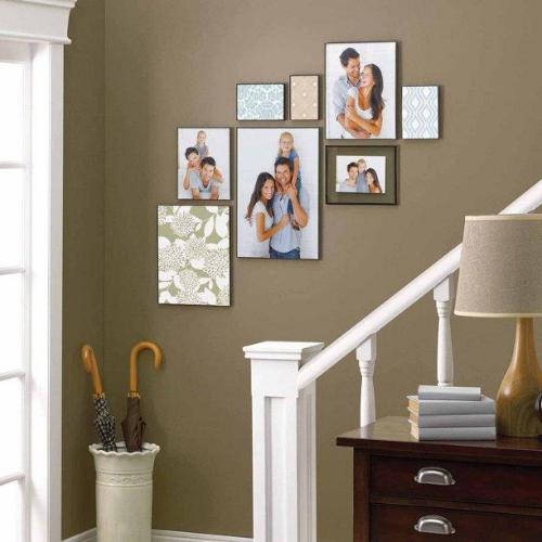 "New 11"" 17"" Format Picture Frame Hanging Home Decor Display, Black"