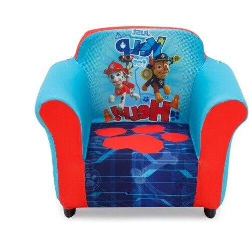 nick jr paw patrol kids upholstered chair