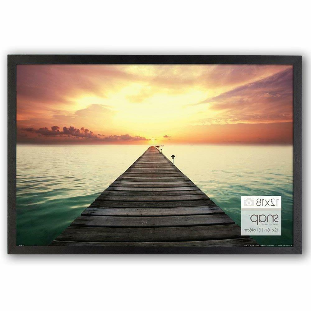 """Wood Photo Frame Poster Picture 12""""x18"""" Glass Cover Home Off"""