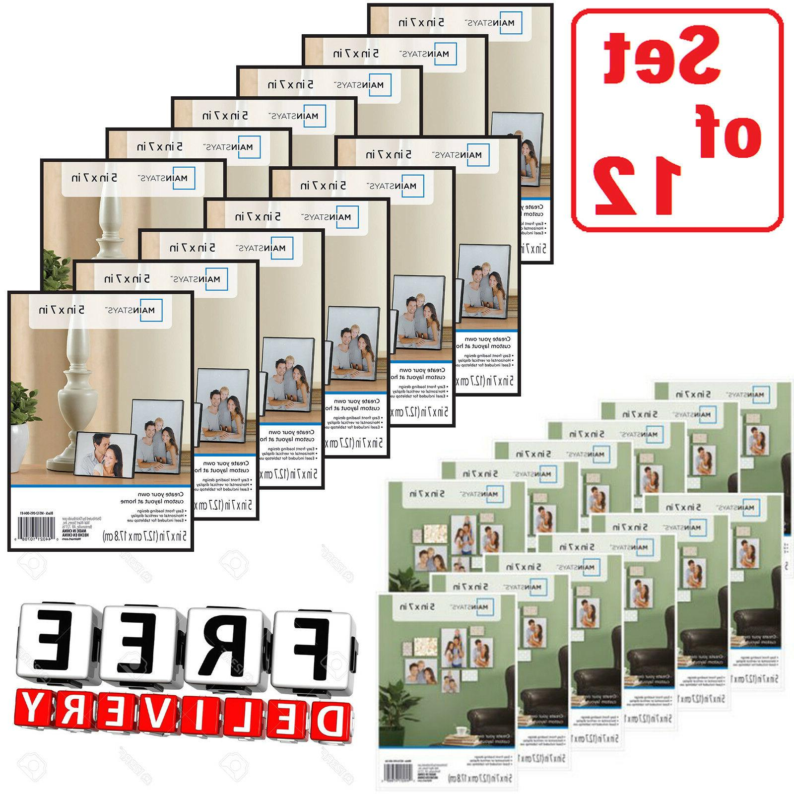 photo frame set of 12 5x7 format