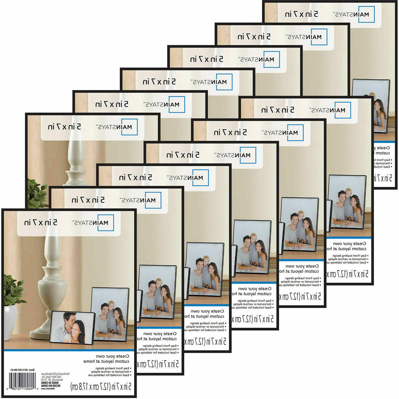 "Photo Frame Set Of 12 5x7"" Format Lot Wall Art Home Decor Fl"