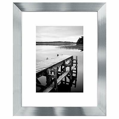 Americanflat Picture Frame Silver Wood for Wall and Tabletop