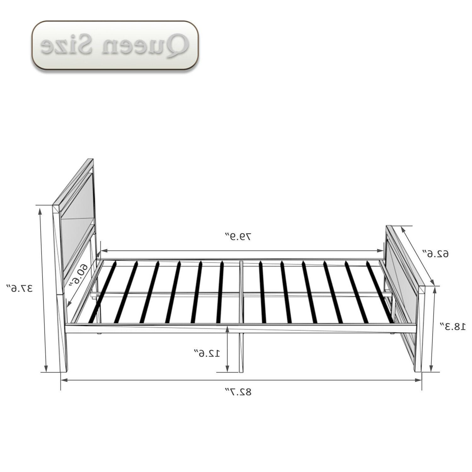 QUEEN/FULL Size Bed With Wood Headboard &
