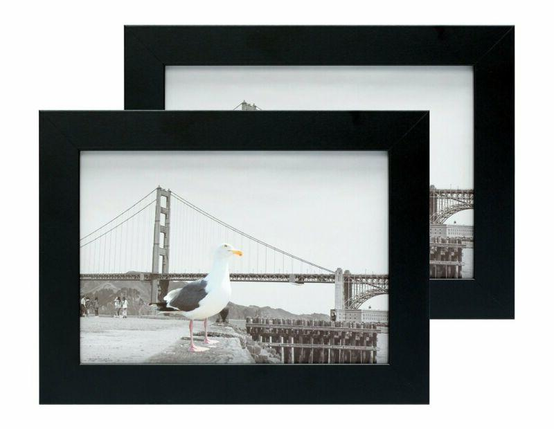 set of two 5x7 black picture frame