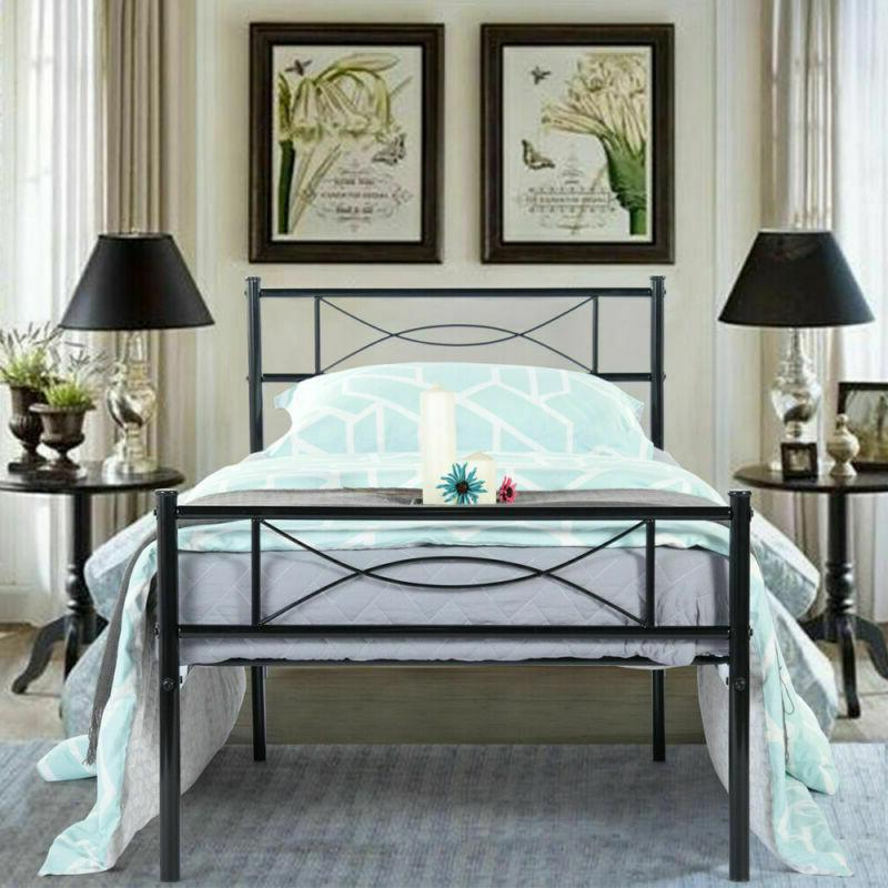Twin Bed Frame Mattress Headboard and