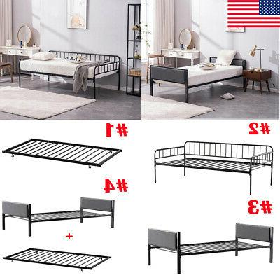 twin size metal platform bed frame mattress