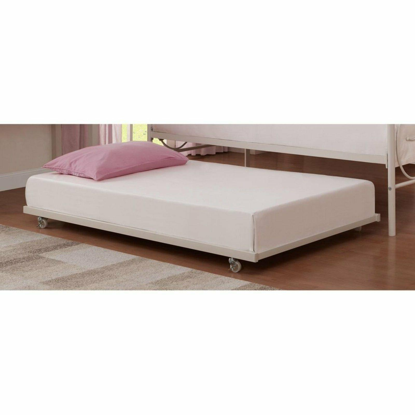 Universal Daybed Trundle Metal Frame Rolling Away Pull Out T