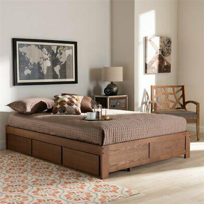 Baxton Size Storage Bed