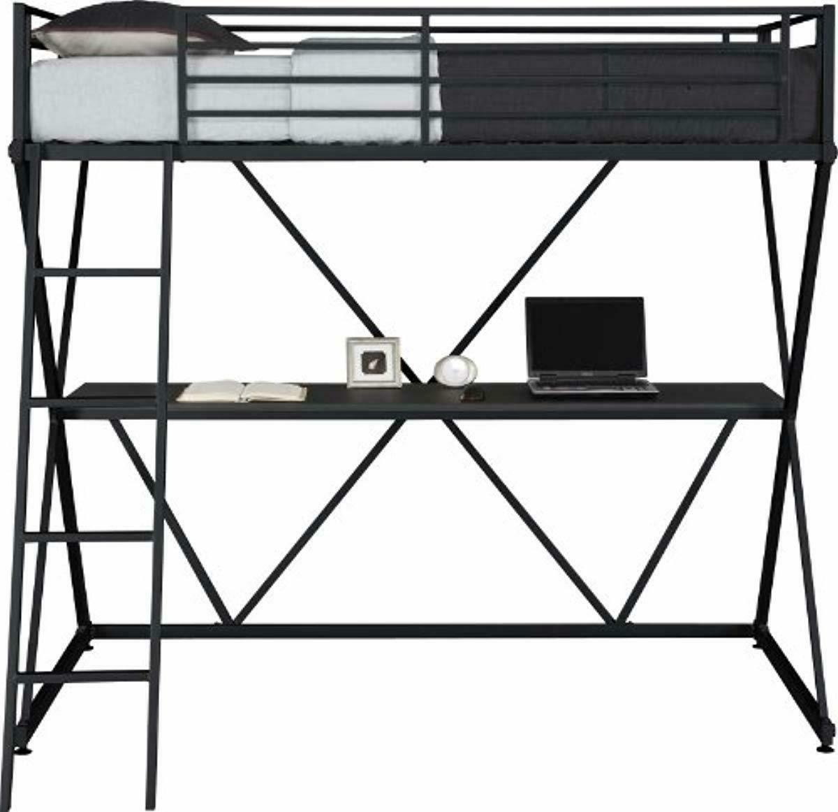 DHP Metal Bunk Bed with - - Twin,