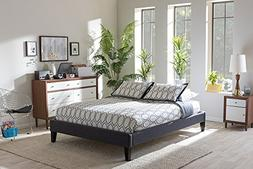 Lancashire Modern And Contemporary Upholstered Bed Frame Wit