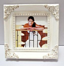 White Leaf 2.5x2.5 Photo Picture Frame Or Place Cards With R