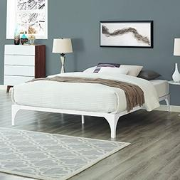 LexMod Ollie King Bed Frame in White