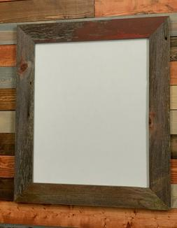 """Lot of 3 11x14 Rustic Reclaimed Barnwood Picture Frame 2"""" Wi"""