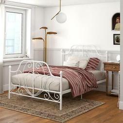DHP Lucy Metal Bed in Full Size Frame in White