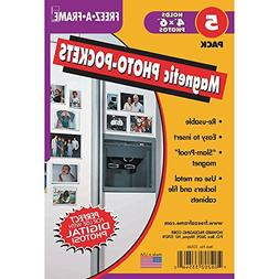 Freez A Frame Clear Magnetic Photo Frame Pockets For 4x6 Pho