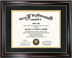 GraduationMall Mahogany Certificate Diploma Frame Picture 11