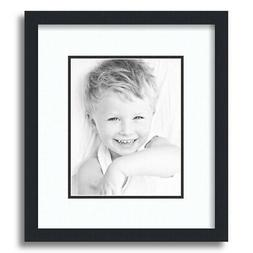 """ArtToFrames Matted 12x14 Black Picture Frame with 2"""" Double"""