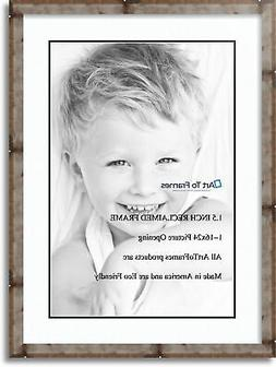 """ArtToFrames Matted 20x28 Natural Picture Frame with 2"""" Doubl"""