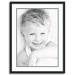 """ArtToFrames Matted 24x32 Black Picture Frame with 2"""" Double"""