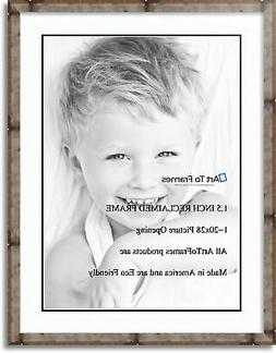 matted 24x32 natural picture frame with 2