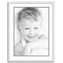 """ArtToFrames Matted 24x32 White Picture Frame with 2"""" Double"""