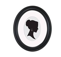 Art 8x10 Matted to 5x7 Holmgren Oval Picture Frame, Black Ph