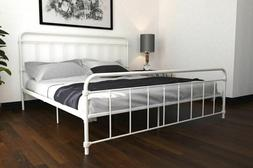 Metal Bed Frame Queen Vintage Antique Style Curved Minimalis