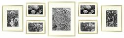 Golden State Art Metal Wall Photo Frame Collection, Set of 7
