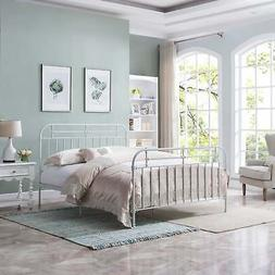 Nathan Queen-Sized Bedframe by Christopher Knight Home White