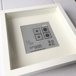 New Square Deep Shadow Box Photo Picture Frame White 23x23cm