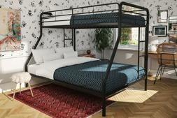 NEW DHP Twin Over Full Metal Bunk Bed Frame, Multiple Colors